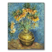 "Trademark Fine Art 'Crown Imperial Fritillaries' 35"" x 47"" Canvas Art"