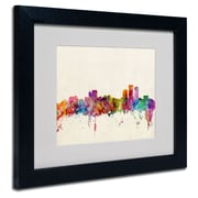 "Trademark Fine Art 'Anchorage Alaska' 11"" x 14"" Black Frame Art"
