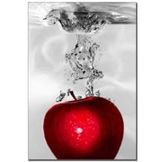 "Trademark Fine Art 'Red Apple Splash' 22"" x 32"" Canvas Art"