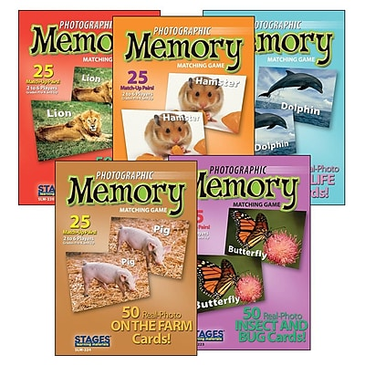 S&S Animal Set Photographic Memory Card Game