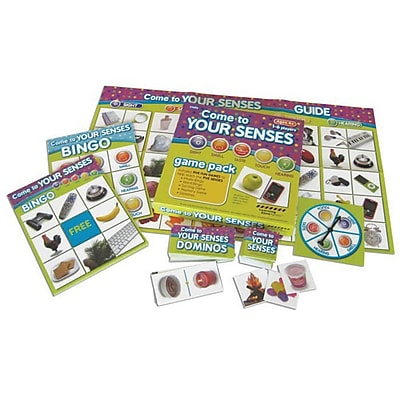 S&S® Come To Your Senses Bingo, Domino and Memory Match Game Pack