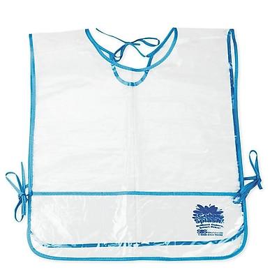 Color Splash® Smock, Clear/Blue, 12/Pack