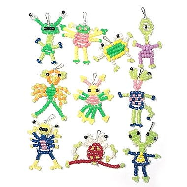 Geeperz™ Beaded Aliens Craft Kit, 50/Pack