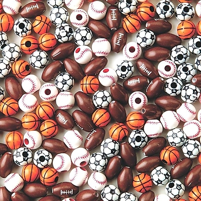 S&S® Sport Bead Assortment, 600/Pack