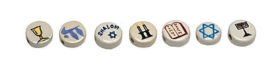 S&S® Judaic Symbols Bead Assortment, 49/Bag