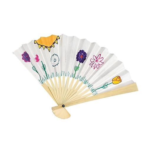 Color-Me™ Paper Fans, 24/Pack
