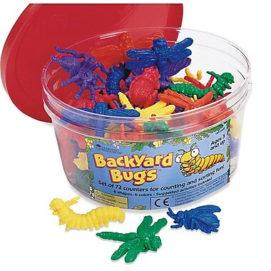 Learning Resources® Backyard Bugs Counters, 72/Pack