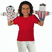 """Color-Me FA3365 Assorted Hand Puppets, 8.5"""", 12/Pack"""