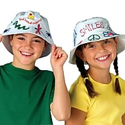 Color-Me FA3374 White Bucket Hats, 12/Pack