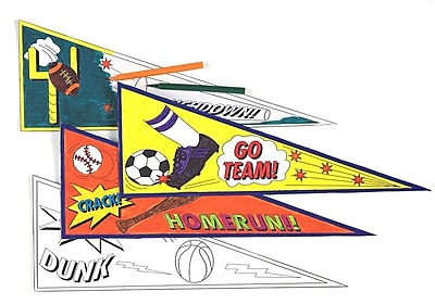 Geeperz™ Team Pride Pennants Craft Kit, 24/Pack