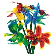 S&S Worldwide Flexible Fun Flowers Craft Kit, 24/Pack