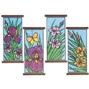 Geeperz™ Brite Lite Paper Floral Fields Craft Kit, 24/Pack