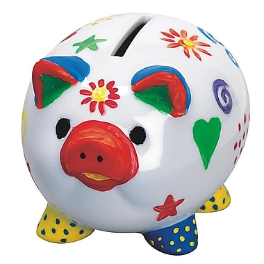 Geeperz™ Piggy Banks Craft Kit, 12/Pack