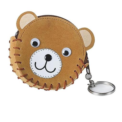 S&S Worldwide Teddy Bear Coin Purse Craft Kit, 12/Pack