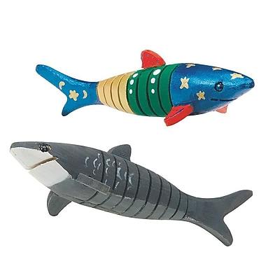 Geeperz™ FleXible Wood Shark Craft Kit, 12/Pack