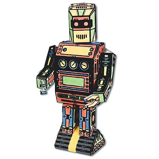 S&S Worldwide 3D Robot Craft Kit, 12/Pack