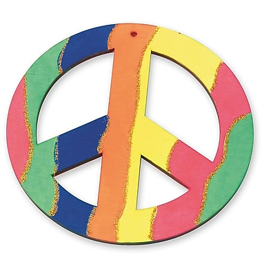 Geeperz™ Wood Peace Sign Craft Kit, 12/Pack