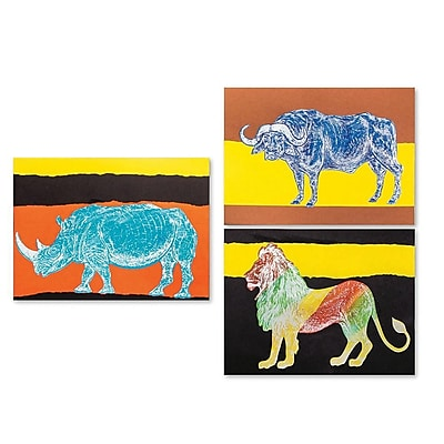 S&S® Geeperz African Animals Reveal Craft Kit, 36/Pack