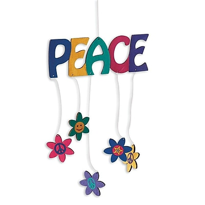 Geeperz™ Peace Mobile Craft Kit, 12/Pack
