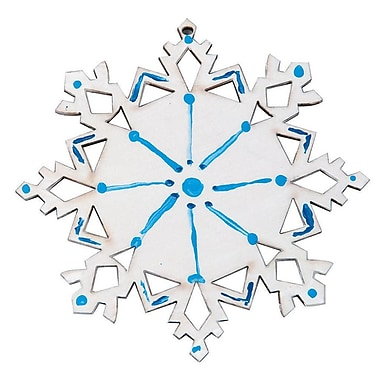Geeperz™ Wood Snowflake Craft Kit, 12/Pack