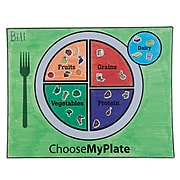 S&S Worldwide MyPlate Coloring Placemats Craft Kit, 48/Pack