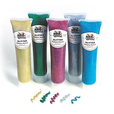 Color Splash GS896 Glitter Fabric Paint Set, 3 oz. 5/Pack