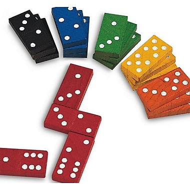 Learning Advantage™ Double-SiX Hardwood Color Dominoes, 168/Set