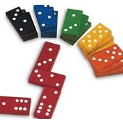 Learning Advantage™ Double-SiX Hardwood Color Dominoes, 168/Set