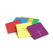 S&S® Double-Sided Geoboards, 6/Set