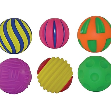 Get Ready Kids Tactile Squeak Balls, 6/Set