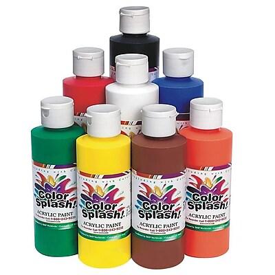 Color Splash 8 oz. Acrylic Paint, Assorted Colors 12778