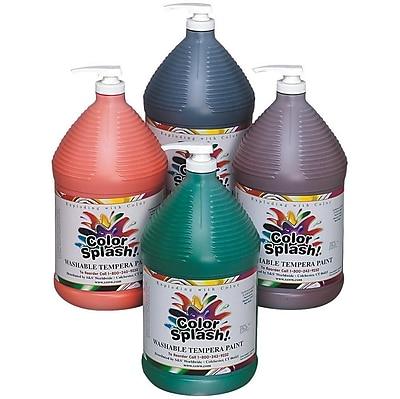 Color Splash® 128 oz. Washable Tempera Paint, Assorted Colors