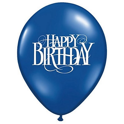 """""Pioneer Balloon 11"""""""" Happy Birthday Superscript Balloon, 100/Pack"""""" 12692"