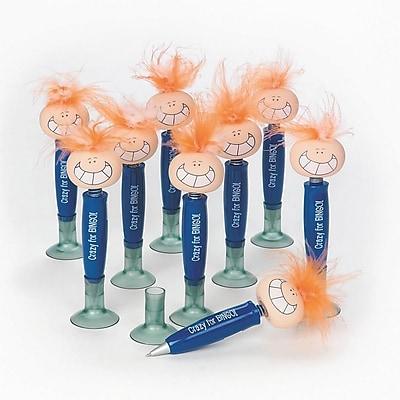 S&S® Crazy For Bingo Bobblehead Pen, Blue, 12/Pack
