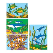 "S&S® 5"" X 7"" Sea Life Sand Art Board, 12/Pack"