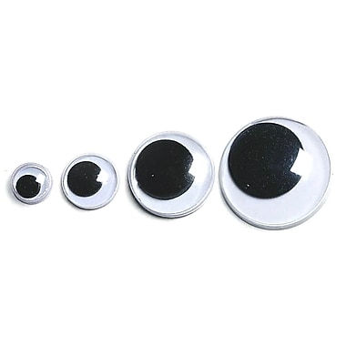 S&S TR103 White/Black Wiggly Eyes, 0.38