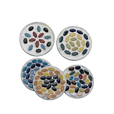 S&S® Ceramic Tile Metal Coasters Craft Kit, 96/Pack