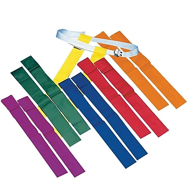 S&S® Spectrum™ Football Flag Set, Orange, 12/Set