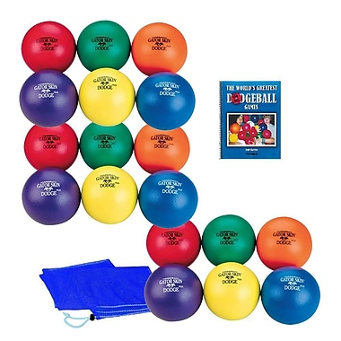 Gator Skin® Middle School Dodgeball Easy Pack, Assorted