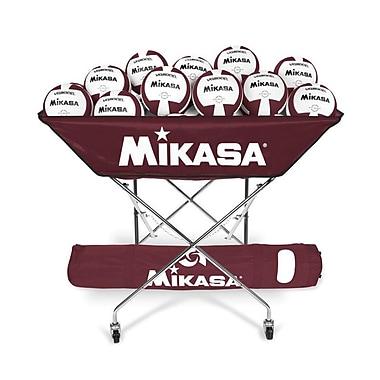 Mikasa® Hammock-Style Volleyball Cart, Maroon