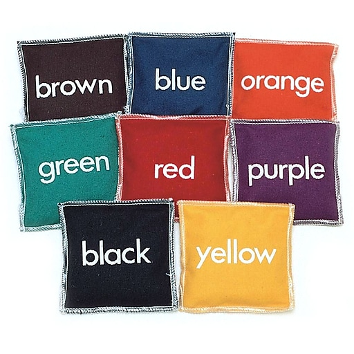 "Champion Sports 5"" Colored Bean Bag, 8/Set"