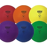 "Tachikara® Recreational Playground Ball Set, 8 1/2""(Dia.), Assorted, 6/Set"