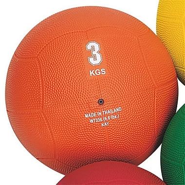 S&S® Rubber Medicine Ball, 6.6 lbs., Orange