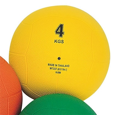 S&S® Rubber Medicine Ball, 8.8 lbs., Yellow
