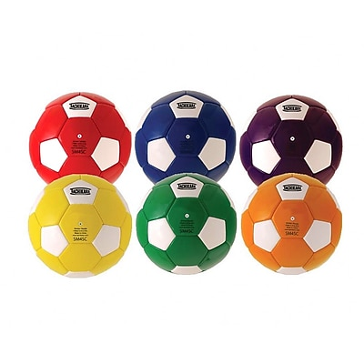 Tachikara® PU Soccer Ball Set, Assorted, 6/Set