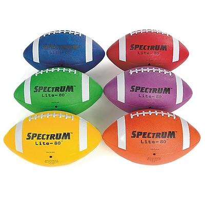 Spectrum™ Lite-80™ Intermediate Football Pack, Assorted, 6/Set