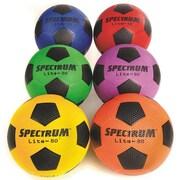 Spectrum™ Lite-80™ Soccer Ball Set, Size 4, Assorted, 6/Set