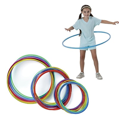 S&S® Spectrum™ Candy-Striped Polyethylene Hoops, 36/Pack