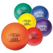 "Gator Skin® Official Adult Dodgeball, 8.3""(Dia.), Assorted, 6/Set"