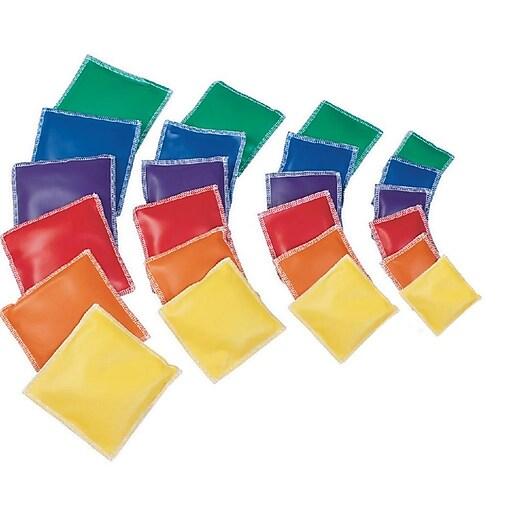 """Spectrum™ 6"""" Vinyl Square Bean Bags, 12/Pack"""